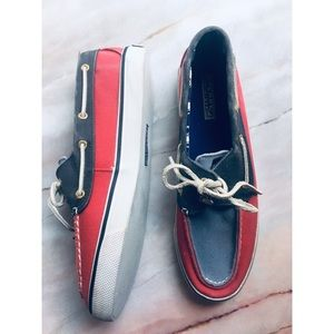 Sperry red white blue top-sider boat shoes